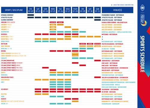 Sport-schedule-beeld